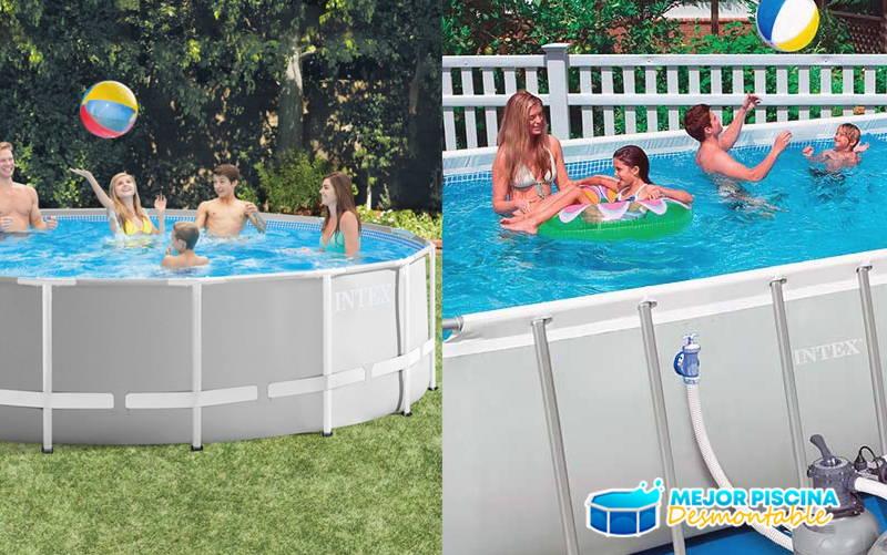tamaño y forma de piscina desmontable