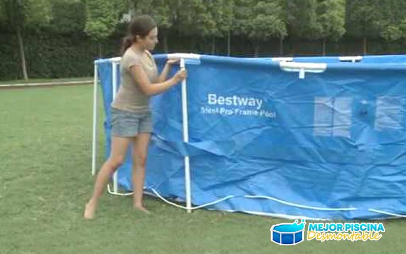 instalar piscina desmontable bestway