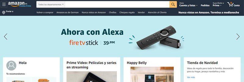 ingresa en amazon