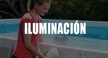 iluminación para piscinas desmontables