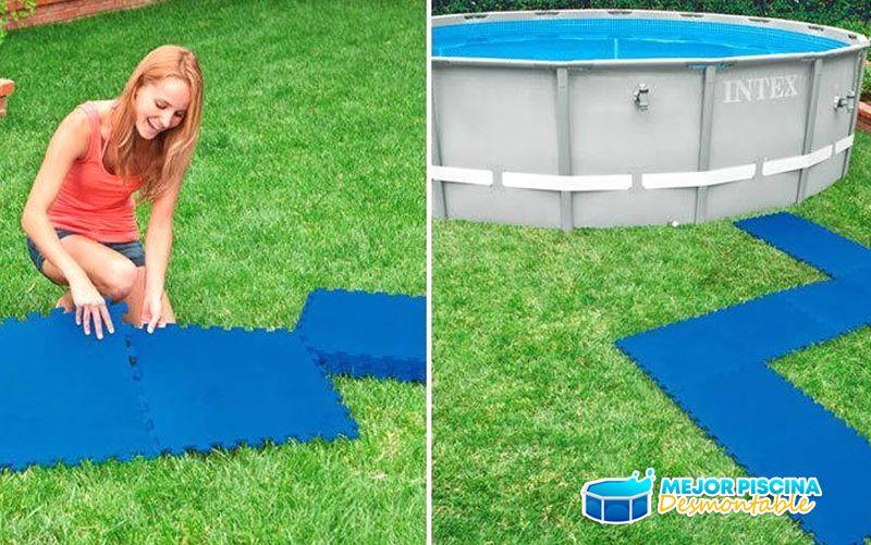 como instalar protector de suelo para piscinas